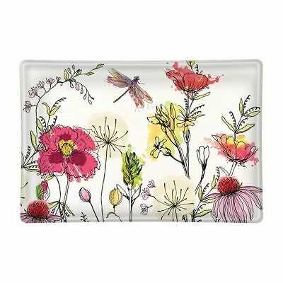 NEW Michel Design Works Glass Trinket Soap Dish In the Garden Floral