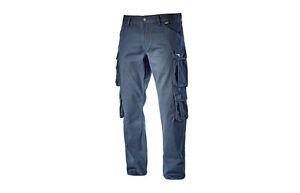 Pantaloni-Wayet-II-ISO-Cargo-da-lavoro-Diadora-Utility-blu-uomo-donna-casual-L