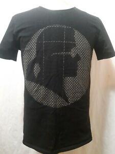 Karl-Lagerfeld-Paris-Silhouette-T-Shirt-Black-Mens-Size-Small-USA-Made-LN
