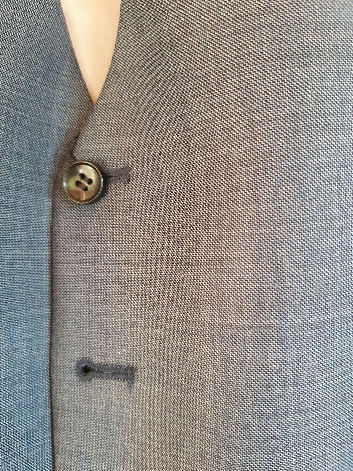 Men's Sharkskin Blue Waistcoat - John Lewis