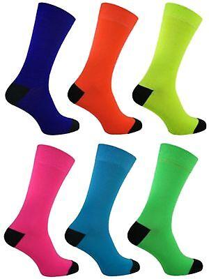 3 Mens Black Heel & Toe Neon Teddy Boy Fancy Dress Party Socks Uk 6-11 Seien Sie Freundlich Im Gebrauch