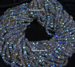 3-4-MM-NATURAL-AAA-LABRADORITE-FACETED-RONDELLE-BEADS-GEMSTONE-13-034-5-STRAND-LOT