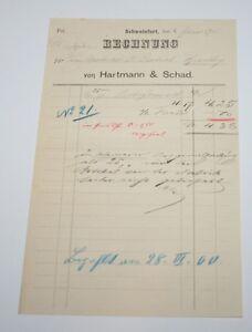 i8795-Alte-Rechnung-SCHWEINFURT-Hartmann-amp-Schad-von-1900