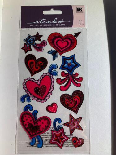 EK Success Jolees 11 Pcs Stickers Hearts Card Scrapbooking Crafts Letter Seals