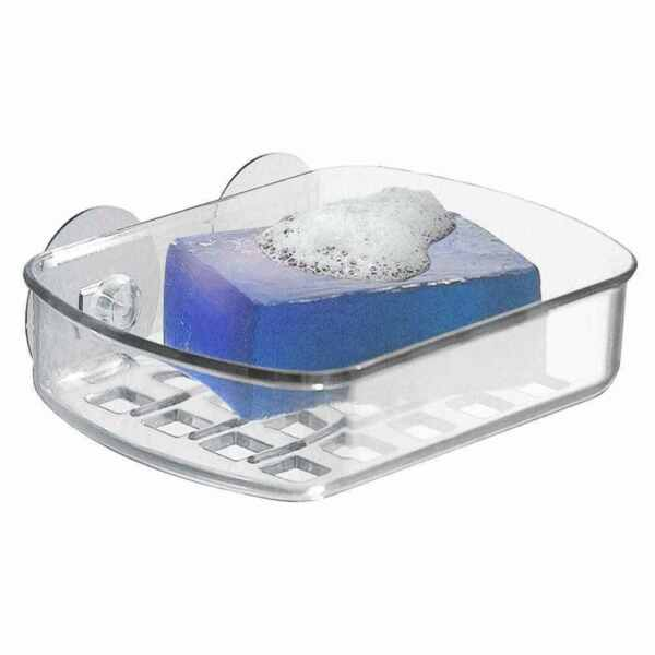 1 Clear Plastic Soap Holder Dish Drip Tray - Raised Ridges Allow Soap To Dry -uk