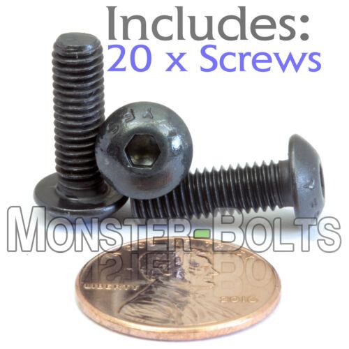 12.9 Alloy Steel M5 5mm x 0.80 x 16mm Qty 20 BUTTON HEAD Socket Cap Screws