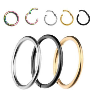 Titanium Conch Piercing Hinged Ring Clicker..18g and 16g..10mm OR 12mm