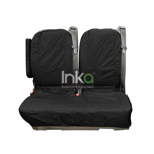 Mercedes Vito W639 MK 2 Rear Double INKA Tailored Waterproof Seat Covers Black