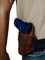 Barsony Brown Leather Belt Slide Gun Holster Steyr Walther Full Size 9mm 40