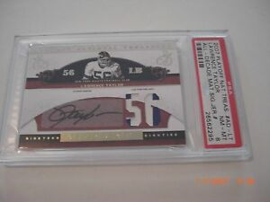 LAWRENCE-TAYLOR-NATIONAL-TREASURES-GAME-USED-DUAL-JERSEY-AUTO-19-56-SIGNED-CARD