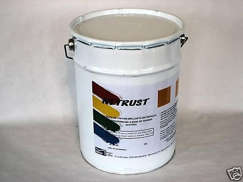 NETRUST Laque antirouille (résines alkydes) alkydes) alkydes) Noir 5 kg fe2555