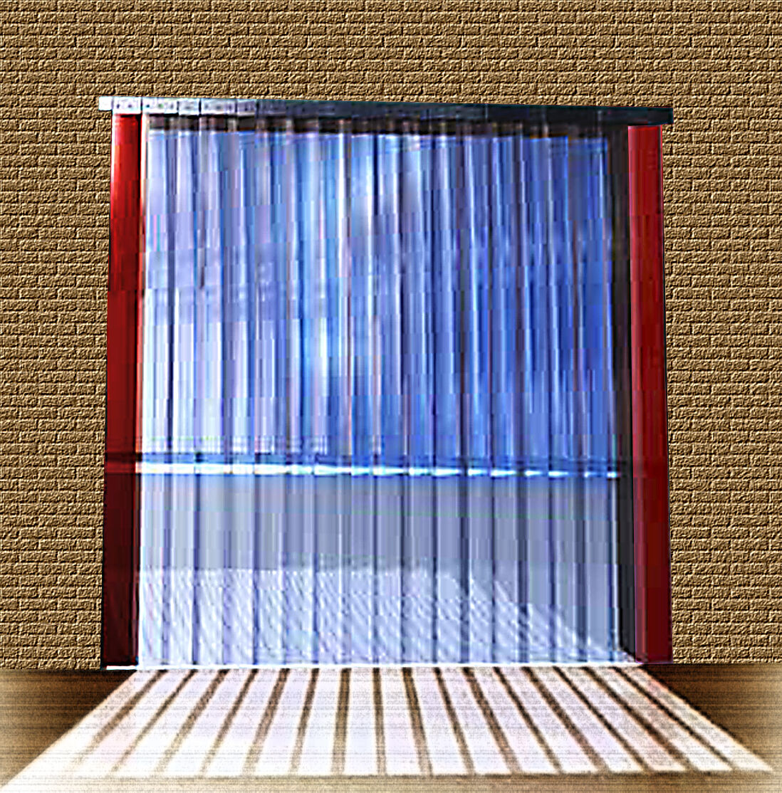 B 0 85m x H2 25m Lamellen PVC Streifen Vorhang 200x2mm