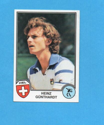 GUNTHARDT-SVIZZERA-NEW SPORT SUPERSTARS//EURO FOOTBALL 82-PANINI-Figurina n.337