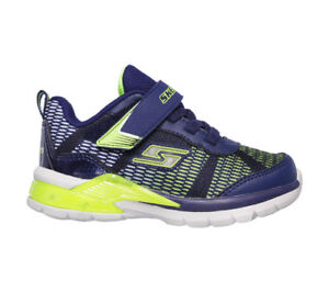 Dettagli su SKECHERS S LIGHTS sneakers navy scarpe bambino luci mod. 90553N