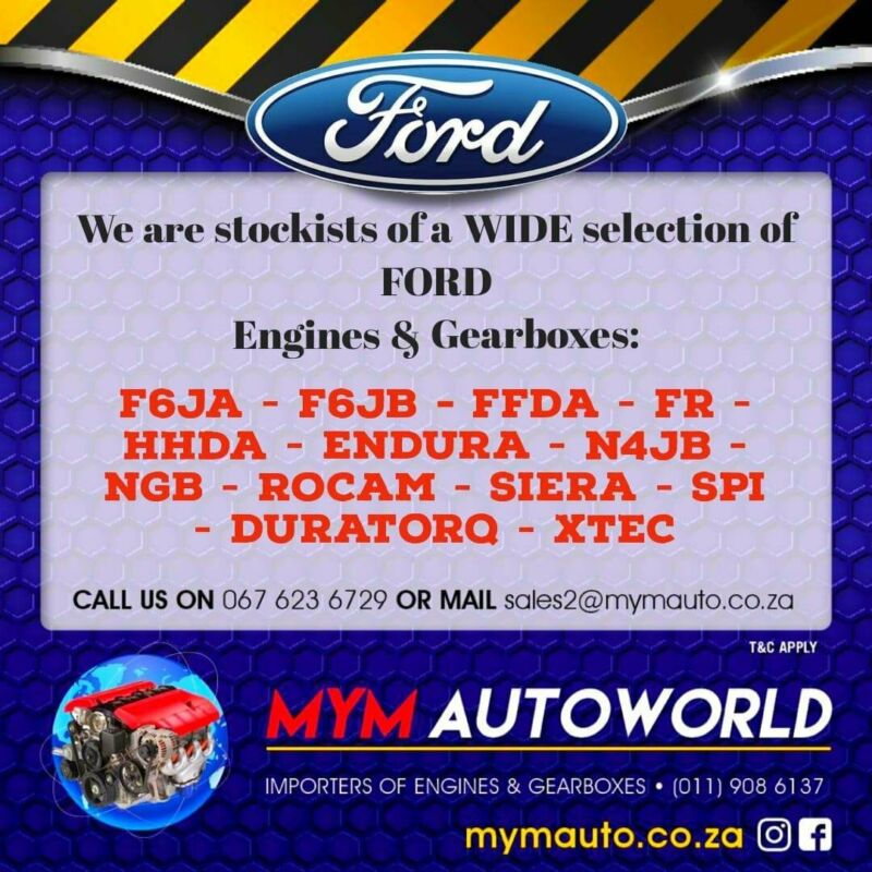Imported used FORD engines for sale at MYM AUTOWORLD