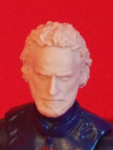 "The walking dead Rick 1//18 Scale 3.75/"" custom head for use with gi joe MH008"