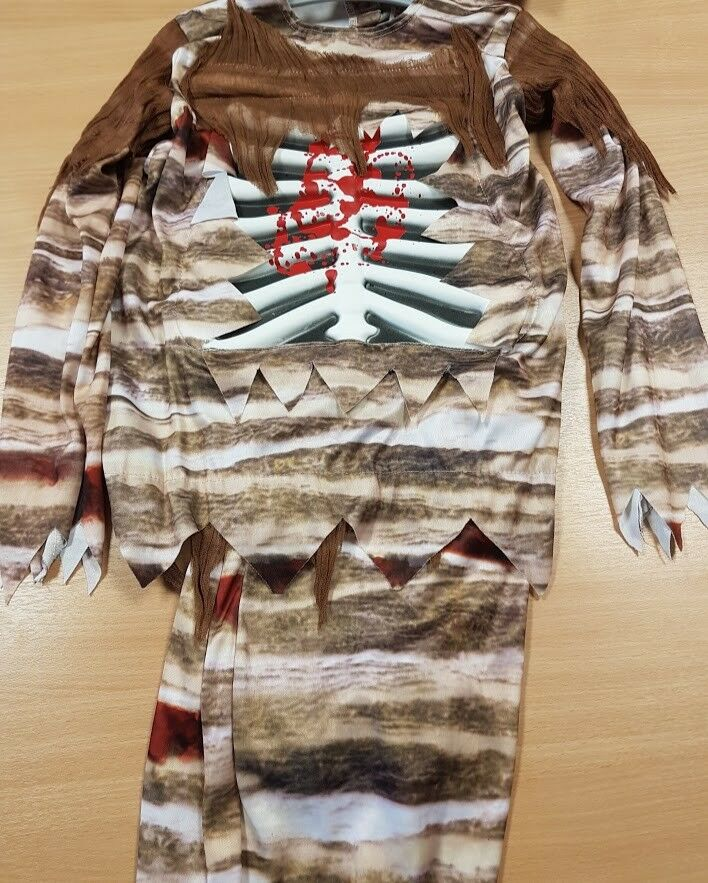 Children's Zombie Fancy Dress Costume Halloween with Mask Aged 11-13