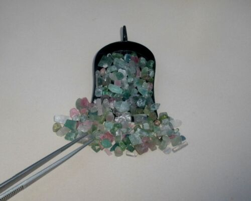 Tourmaline natural crystal rough loose gem mix parcel lot over 100 carats