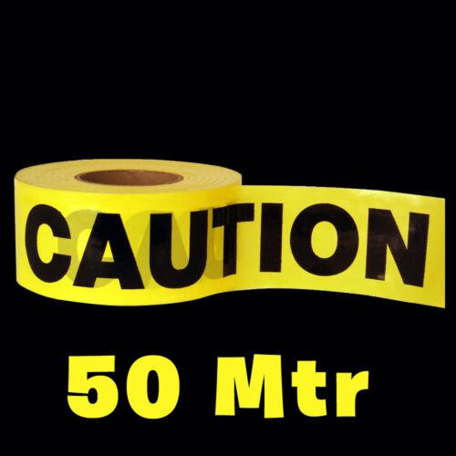 50 M attention tapeyellow PVC Rouleau autocollante Hazard Safety Warning Tape