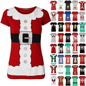 Ladies-Christmas-Pudding-Funny-Boobs-T-Shirt-Womens-Xmas-Festive-Novelty-Tee-Top
