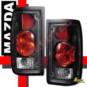 86 93 mazda b2000 b2200 b2600 pickup black tail lights lamps 1 pair rh ebay com