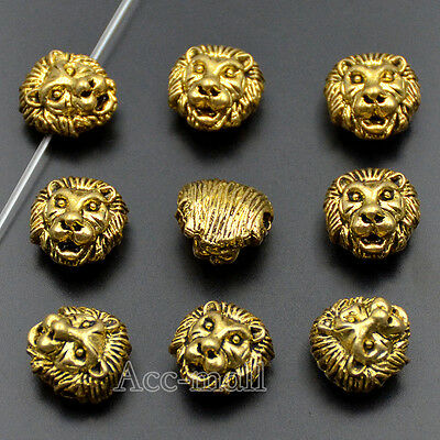 Fashion Solid Metal Lion Dragon Buddha Head For Bracelet Connector Charm Beads