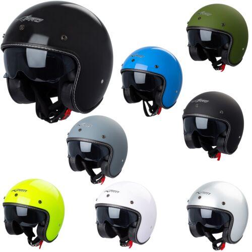 Jet Helmet Cafe Racer Open Face Motorcycle SunVisor Custom Scooter
