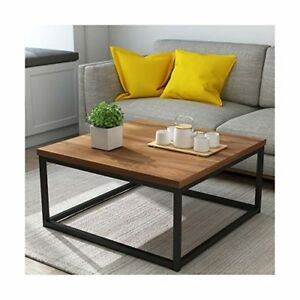 Awe Inspiring Details About Industrial Coffee Table Square Wood Metal Modern Home Furniture Lounge Sofa Unit Machost Co Dining Chair Design Ideas Machostcouk