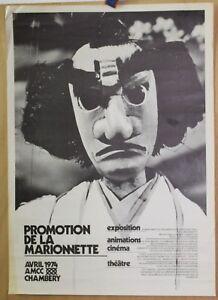 Affiche-Originale-1974-Promotion-de-la-MARIONNETTE-Chambery
