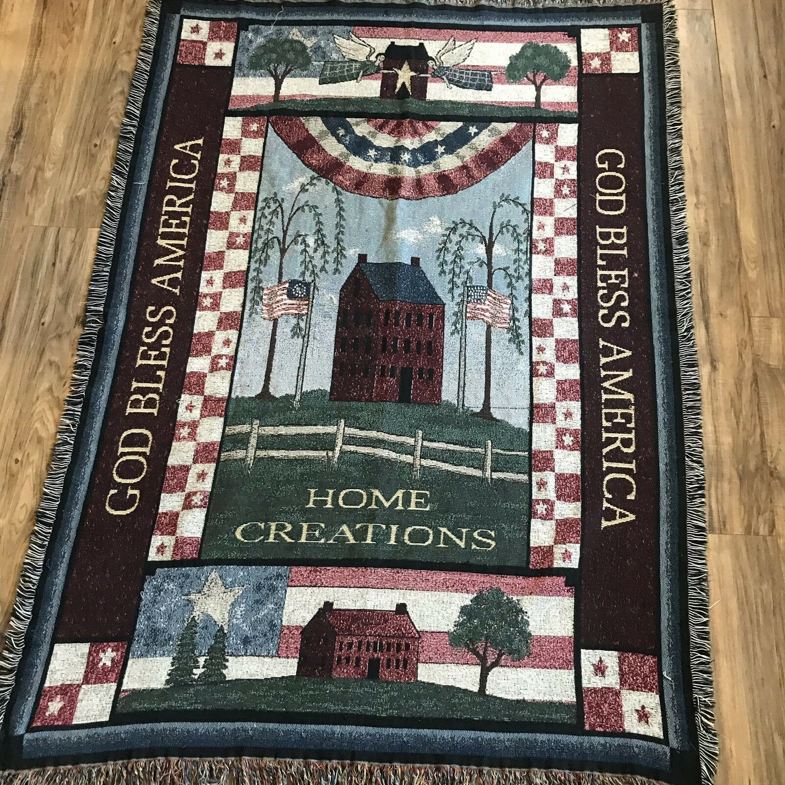 Pure Country Weavers God Bless America Throw 50 X 71