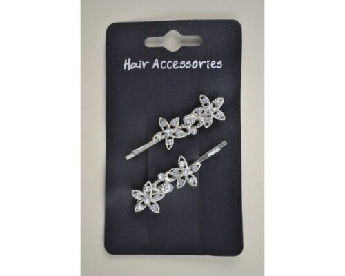 5173C Plata Flor Diamante apretones