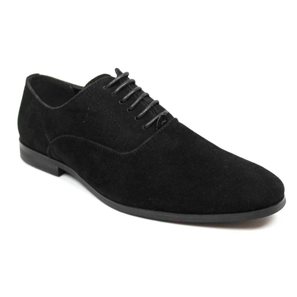 8f5a68518cb05c Mens Round Toe Black Suede Dress Shoes Lace up Oxfords by Azar 8 U.s ...