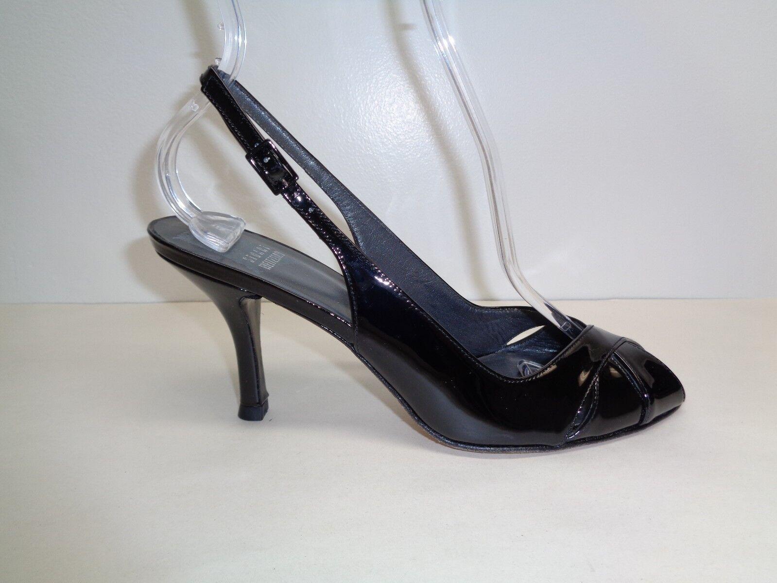 Stuart Weitzman Size 10 M PEEKAPOO Patent Leather Sandals New Donna Shoes