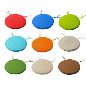 Image Is Loading NEW ROUND Chair Cushions BISTRO Circular SEAT PADS