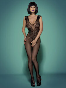 OBSESSIVE-n112-reseau-catsuit-body-stocking-Bas-Noir-S-XXL-etape-ouvert-hot
