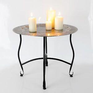 orientalischer tee tisch teetisch kerzentisch tablett beistelltisch metall ebay. Black Bedroom Furniture Sets. Home Design Ideas