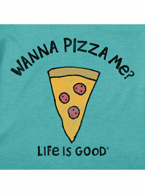 Short Sleeve Cool Tee Shirt Life is Good Boys/' Wanna Pizza Me