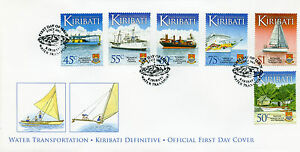 Kiribati 2013 FDC Water Transportation Definitives 16v on 3 Covers Ships Stamps