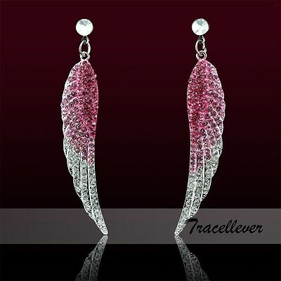 Fashion New Angel Wing Stud Jewelry Earring High Quality Middle East Crystal
