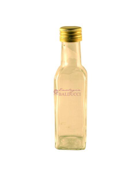 N°24 Bottiglie marasca per olio da 100 mL vetro bianco