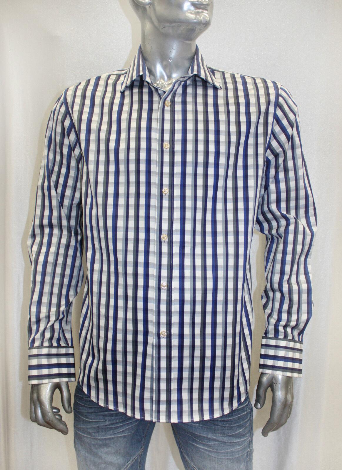 Men's Rufus Plaids Royal   Navy   White   Grey Button Down Shirt