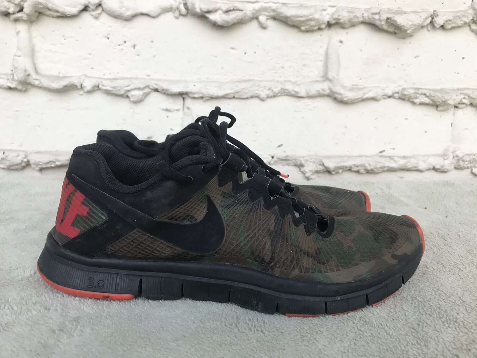 RARE Nike Free Trainer 3.0 Camo Running Shoes 625164-300 Mens US 9.5