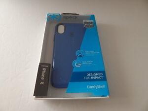 sale retailer d98ce 5a545 Details about Speck Products Candyshell Case For iPhone X Cobalt  Blue/Harbor Blue New
