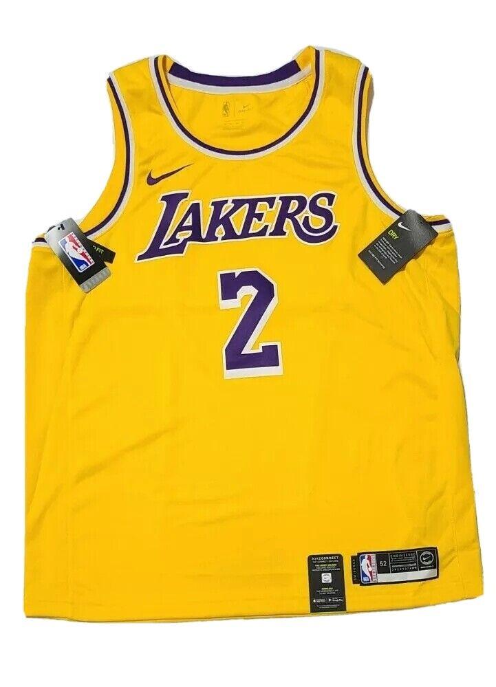 Nike La Lakers Lonzo Ball NBA Swingman Yellow Jersey Mens Size 3xl ...