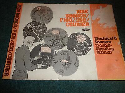 1982 FORD TRUCK / BRONCO WIRING & VACUUM DIAGRAM SHOP ...
