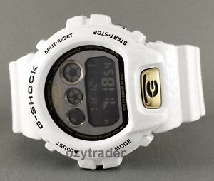 New-Casio-G-Shock-DW-6900CR-7-Gloss-White-Crocodile-Shock-Resist-Digital-Watch