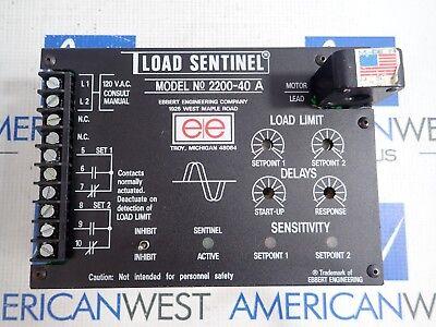 EBBERT ENGINEERING LOAD SENTINEL 2100-40A *PZB*