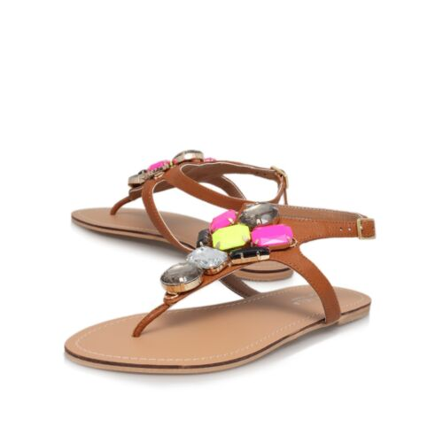 Uk preziose Set Scarpe pietre Sandals in 37 Discount pelle Tan Carvela Eu 4 On di Now qHXREnzaw