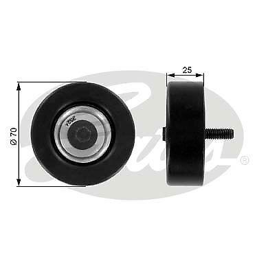 Gates v-Côtelé Ceinture Guide Poulie T36175 pour Ford Mazda
