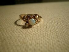 PRETTY Antique Victorian 12K Rose Gold Seed Pearl /Opal RING Size - 5.25